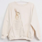 Ladies sweater 'Rabbit' with pocket - free size